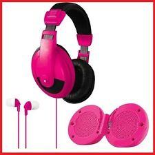 3 In One Headphone Earbud Speaker Combo - Noise Reduction DJ-Style Headphones, M