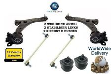 FOR MAZDA 3 03-09 2x WISHBONE ARMS + 2x FRONT STABILISER LINK BARS & 2x D BUSH