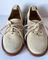 Beberlis Boys 19548 Metallic Burgundy Suede Plain Toe Oxford Dress Shoe