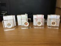 Beatrix Potter Peter Rabbit 2017 Royal Mint Silver Proof Coloured 50p Coin Set
