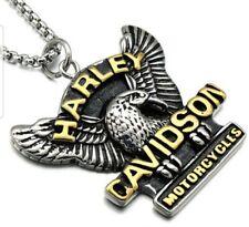 Harley Davidson Necklace Pendant Biker Men/Women Chain