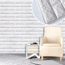 30X60cm 3D PE Foam Wall Stickers White Brick Waterproof DIY Home Room Decor