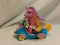 Hasbro My Little Pony Pink Pullback Wind up Scooter Motorcycle 2004