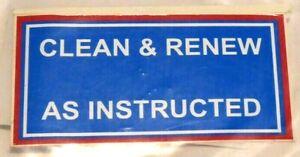 CLEAN & RENEW DECAL FOR MASSEY FERGUSON TEF20 TRACTORS