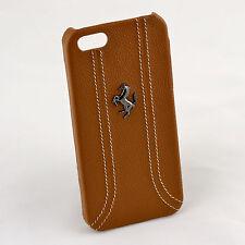 Ferrari iPhone 5 / 5S Brown Leather & Stitching Case CG Mobile New FEFFHCP5KA