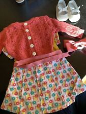 American Girl Doll Kits Photographer Outfit Sweater, Dress And Hair Bow S 00004000 hoes