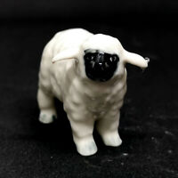 Farm Animal Ceramic Sheep Lamb Figurine Hand Painted Miniature Collectible Decor