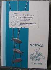 Einladungskarten / Einladungen  Kommunion / Konfirmation handarb Farbvarianten