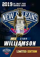 ZION WILLIAMSON 2019 LIMITED ED FIRST ROOKIE GEMS #1 DRAFT PICK NBA PELICANS!🔥