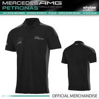 2015 Lewis Hamilton Driver Polo Shirt (Mens) New! Mercedes-AMG Formula One Team
