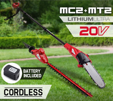 20V 1300mAh Lithium Pole Chainsaw Hedge Trimmer Cordless Battery Electric