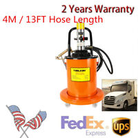 High Pressure 20L 5 Gallon Air Operated Grease Pump Pneumatic Universal Gun Hose