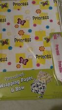 Personalized gift wrap wrapping spring butterflies Nip Princess