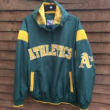 More details for oakland athletics a's baseball green 1/2 zip giii sports by carl banks jacket xl