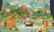 Vtg By The YD Gift Wrapping Paper Baby Children Mother Goose Nursery Rhymes