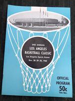 Rare 1960 2nd Annual Los Angeles Basketball Classic LA Sports Arena Program