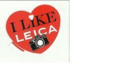 sticker adesivo da collezione I LIKE LEICA