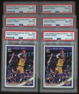 Investor Lot Of (6) 2018-19 Donruss Optic #94 LeBron James Lakers PSA 10