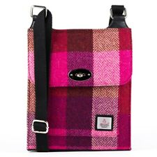 Femmes à la Mode Harris Tweed Cartable Rose Carrés par Maccessori