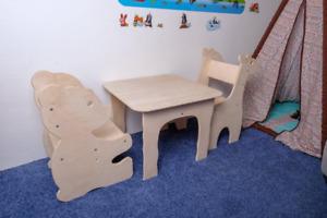 Ours chaise de Noël enfants