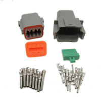 1set 8Pin Waterproof Electrical Wire Connector plug Kit 22-16AWG DT04-8P DT06-8S