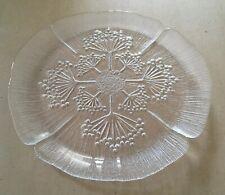 Vintage Scandinavian Art Glass Lasisepat Perti Kallioinen Cow Parsley Platter