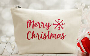 Merry Christmas Make Up/Accessory Bag - Stocking Filler Gift Present