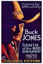 SOUTH OF THE RIO GRANDE Movie POSTER 27x40 Buck Jones Mona Maris George J. Lewis