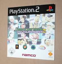Playstation 2 Demo DVD Not for Resale Pal Smash Court Tennis Pro Tournament 2