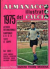 ALMANACCO ILLUSTRATO DEL CALCIO 1975=PANINI MODENA=SERIE ABCD/COPPE=34° VOLUME