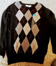 Nwt Childrens Place Boys XSMALL Argyle Sweater