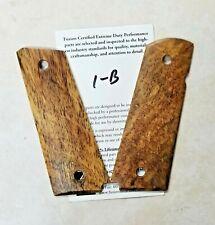 1911 Grip Full Size Thin White Cocobolo Beveled Bottom Smooth NO Ambi Cut - 1-B