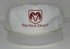 Vintage 90s The New Dodge Ram Durango Cummins Mopar White Hat Cap Strapback