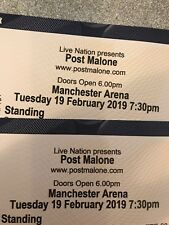 2 X Post Malone Tickets Manchester Standing Tuesday 19 February 2019