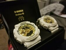 G Shock White And Gold Lovers Collection