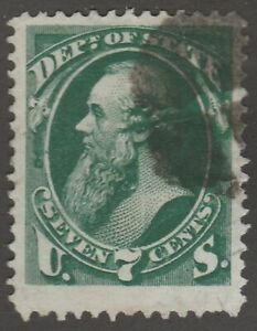 USA Scott #  O 61 Official State Department  7 Cent used  ( o61-1)