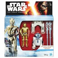 """NEW Star Wars The Force Awakens Snow Mission R2-D2 & C-3PO Figure 3.75"""" Pack 2"""