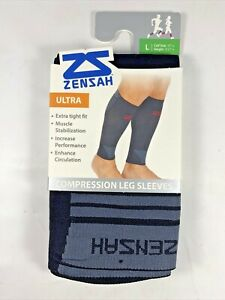 Zensah Ultra Compression Leg Sleeves for Running Shin Splint Black Size Large