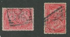 """CANADA #53 USED JUBILEE SQUARED CIRCLE CANCEL """"CALGARY"""" 2 DATED COPIES"""