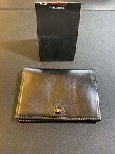 Tumi Matrix Black Lether Wallet Double ID Slots