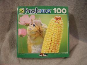 Chipmunk With Corn 100 Piece Puzzle