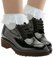 Women's Lace Ruffle Anklet Socks in Five Colors