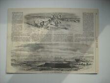 GRAVURE 1859. EGYPTE, CHEMIN DE FER DU CAIRE A SUEZ + EXP. ITALIE; VUE DE CASAL.