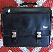 Men's APC Black Laptop Bag Travel Briefcase Luggage Executive Satchel style