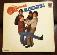The Monkees HEADQUARTERS LP Album - Colgems Vinyl Records 1967 RCA COM-103