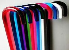 transparent COLOR (blue, green, black or white) ACRYLIC CANE Lucite Walking