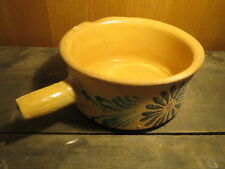 Ancienne poterie savoyarde type casserole avec bec verseur french old pottery
