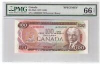 Canada BC-52aS Specimen $100 Banknote 1975 PMG GEM UNC 66 EPQ