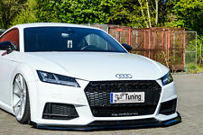 Spoilerschwert Frontspoiler mit Wing aus ABS für Audi TT TTS 8S S-Line mit ABE