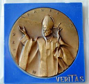 Poland, Pope John Paul II, Brass Medal 1987, 45 mm
